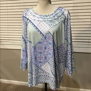 Alfred Dunner size 2x multicolor Top